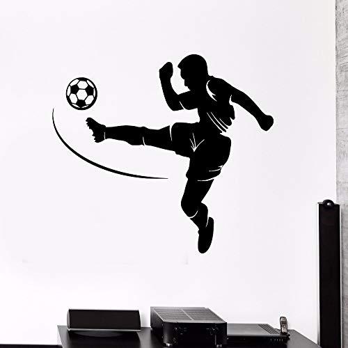 jiuyaomai Fußball Vinyl Wandtattoo Fußball Spieler Sport Teen Room Boy Aufkleber Removable Home Decor Wandaufkleber Silhouette Tapete