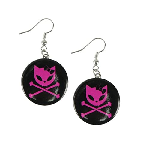 Bye bye kitty dEAD hEAD paire de boucles d'oreilles
