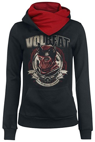 Volbeat Red King Felpa donna nero/rosso XL
