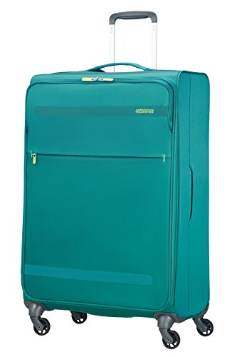 American Tourister Herolite Super Light Spinner Valigia, 74 cm, 95 litri, Cactus Green