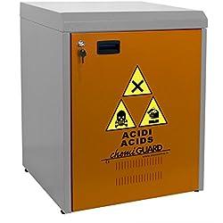 MOMOLINE CMG-60-SP 60 CHEMIGUARD Meuble Bas Armoire de Sécurité pour le Stockage de Produits Chimique, Un Seul Compartiment, Orange