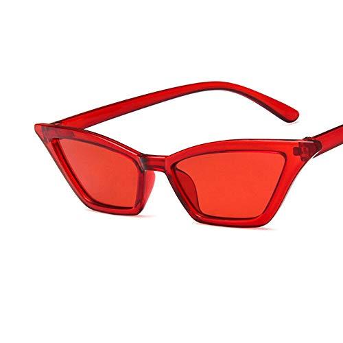 YUHANGH Vintage Sonnenbrille Frauen Cat Eye Luxus Sonnenbrille Retro Kleine Rote Damen Sunglass Black Eyewear Weibliche Shades