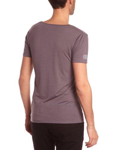 Eleven Paris - L2 Basic Large Neck Ss, T-shirt da uomo,  manica corta, collo rotondo grigio(Grau (M09 Rock))