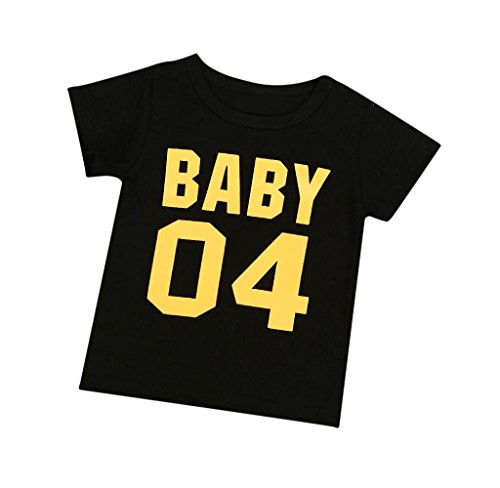Covermason Covermason Papa Mama Kinder Baby T-Shirt Bluse Tops Familie Bekleidung (80 (6 Monate), Baby Schwarz)