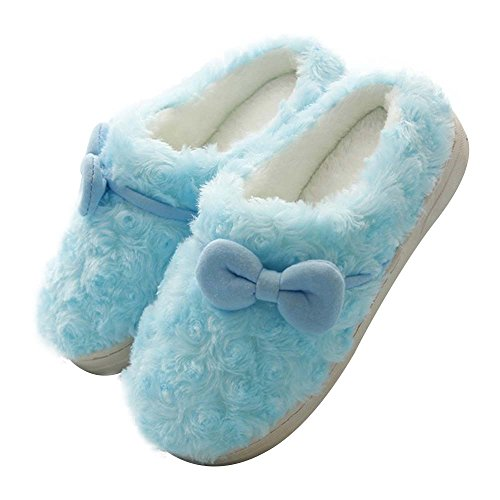 Eastlion delle donne e dei bambini inverno bella tenere in caldo anti-Skid peluche casa Scarpe Indoor, Sippers Colore 7