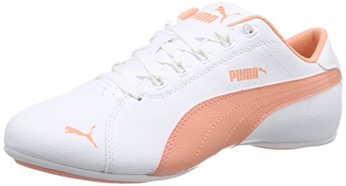 6 Flower Mädchen-top (Puma Janine Dance 2 Jr, Mädchen Sneakers, Weiß (White-Desert Flower 03), 34 EU (1.5 Kinder UK))