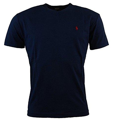 Polo Ralph Lauren Herren T-Shirt mit V-Ausschnitt (Small, Navy)