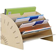 Liying Neu Stehsammler Zeitschriftensammler Stehordner Archivsammler Holz Pink