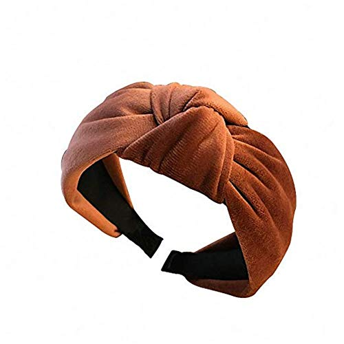 Binwwe Damen Retro velvet knoten Haarreif Haarband Kopfband Stirnband Haargummi Samtstirnband Kopftuch turban Yoga Sport (orange) -