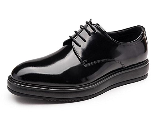 SHIXR Männer Oxford Business Anzüge Schuhe Herrenschuhe Britische Lackleder Boutique Dick Leder Schuhe Black