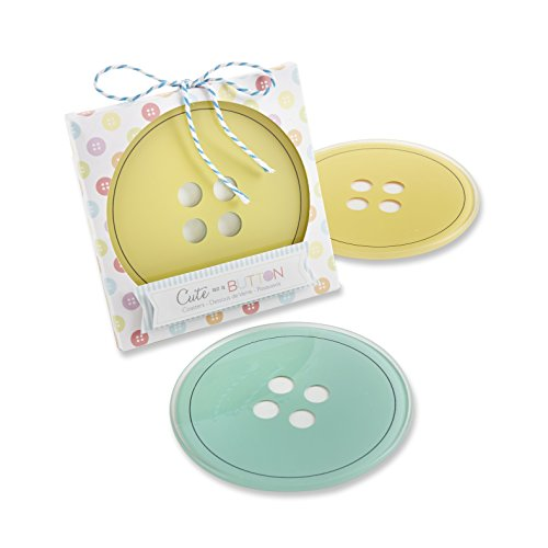 Kateaspen Kate Aspen Cute as A Button Glass Coasters