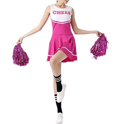 fadirew Damen Cheerleader Kostüm Outfit College Kostüm Sports Musical High School Girl Uniform Party Halloween-Kostüm Outfit–6Farben M - Halloween-kostüm College Mädchen Für