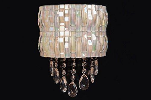 zeitgenössisch Mosaik Wandleuchte mit 2 integriert weiß LED-Licht, 3 Mit jedem , von Kristalle & Edelsteine UK schöne Glas Kristall Design AB (Mosaik-wandleuchte Licht)