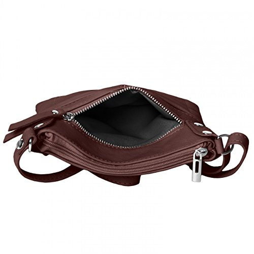 ... CASPAR Damen Ledertasche   Umhängetasche   Messenger Bag mit vielen  Fächern aus weichem italienischem Leder ... 85e307fd76