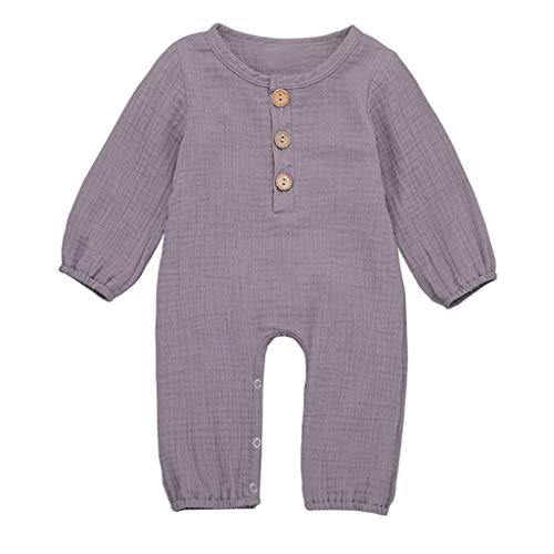 Julhold Sommer Neugeborenen Jungen Mädchen Casual Baumwolle Leinen Solide Strampler Overall Kleidung Outfits 3-24 Monate