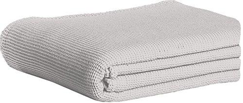 Dormisette 838704 Piqué Baumwolldecke, Baumwolle, Stein, 210x150x2 cm -