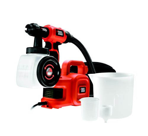 Black+decker hvlp400c-it pistola a spruzzo per interni ed esterni con base da terra 450w con accessori