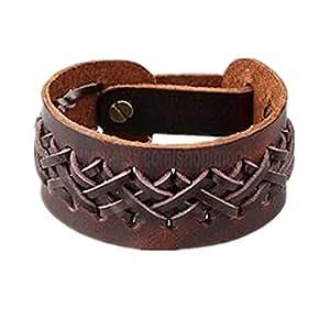 Jirong Brown leather wrap bracelet Women Leather Bracelet Men Leather Cuff Bracelet Unisex Bracelet friendship gift Christmas gift SL2612