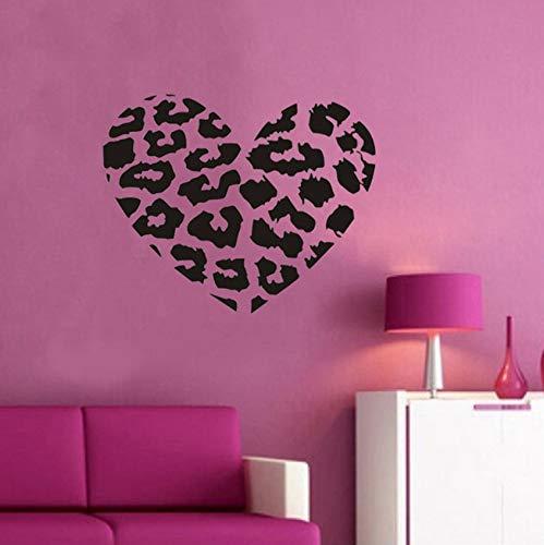 erz Vinyl Wandtattoo Aufkleber Leopardenmuster Diy Dekor Dekoration Für Schlafzimmer 45X38Cm ()