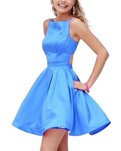 Bridal_Mall -  Vestito  - linea ad a - Senza maniche  - Donna Hellblau