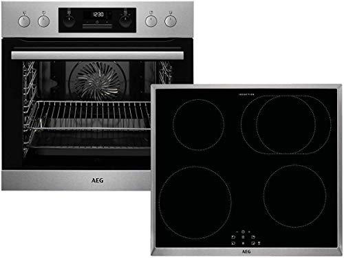 AEG EPB353-1 EPB331020M - Fornello da incasso Pyrolyse + piano cottura a induzione IEB64010XB