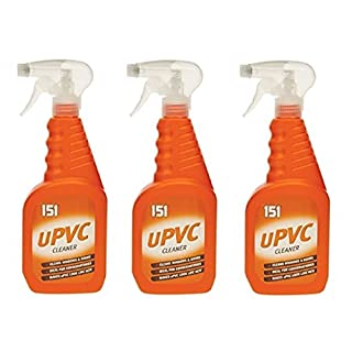 3 Pack 500ml uPVC Cleaner Cleans Windows & Doors Ideal For Conservatories