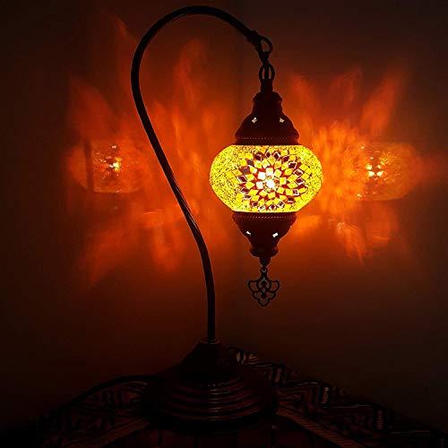Türkisch Lampe / Marokkanische Lampe Tiffany Stil Glas Schreibtisch Tisch Lampe - OR13 -