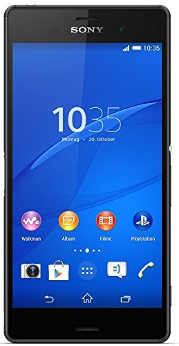 Sony Xperia Z3 Smartphone (13,2 cm (5,2 Zoll) Full-HD-TRILUMINOS-Display, 2,5 GHz-Quad-Core-Prozessor, 20,7 Megapixel-Kamera, Android 4.4) schwarz (Zertifiziert und Generalüberholt)