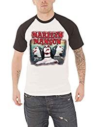 Marilyn Manson T Shirt Sweet Dreams Official Mens White Raglan