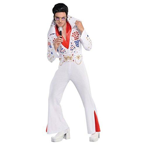 Elvis Presley Kostüm Jumpsuit - König von Las Vegas Elvis Presley Superstar Kostüm Herren Amscan