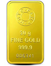 MMTC-PAMP 24k (999.9) Lotus 20 gm Yellow Gold Bar