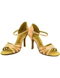 T.T-Q Zapatos de Baile de la Profesión de Las Mujeres Sandalias Latinas de almendras Salsa Jazz Tango Swing Practice...