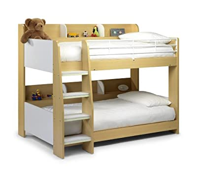 Julian Bowen Domino Single Bunk Bed, White/Maple