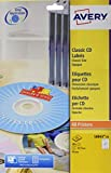 Avery - Pochette de 50 étiquettes blanches pour CD ( Ø 117 mm ).