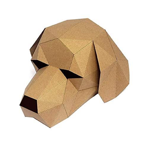 WANG XIN 3D Tier Maske - Katze/Hund/Gorilla/Panda DIY Papier Maske - Halloween Maske - for Erwachsene & Kinder (Color : B) (Gorilla Kostüm Hunde)