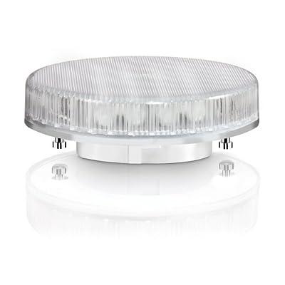 GX53 Energiesparlampe von parlat (weiß, 230 Volt AC, 9 Watt, Ersatz für 26 Watt Glühlampe, Leuchtmittel, ESL, Kompaktleuchtstofflampe, 230V)