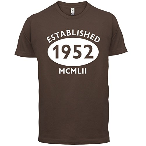 Gegründet 1952 Römische Ziffern - 65 Geburtstag - Herren T-Shirt - 13 Farben Schokobraun