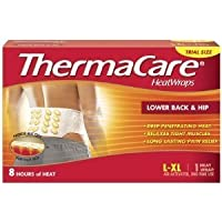 Thermacare Heat Wrap Pain Relief Lower Back & Hip L-xl (3 Pack)