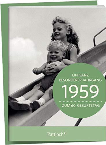 1959 - Ein ganz besonderer Jahrgang Zum 60. Geburtstag: Jahrgangs-Heftchen mit Kuvert