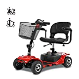 A-new Scooter Elettrico a Quattro Ruote per Adulti/Disabili, Pieghevole/Leggero / Portatile