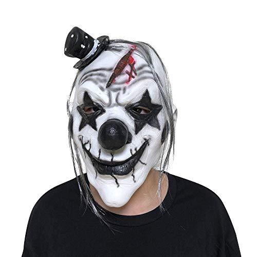 QWhing Festival-Maske COS Dämon Clown Maske Halloween Horror unheimlich lustige Maske Kostüm ()