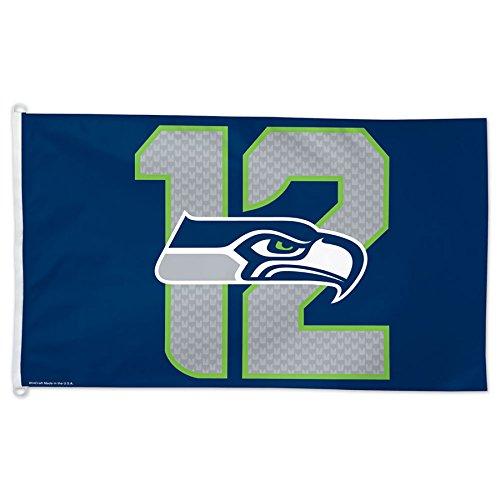 Seahawks 12. Man Flagge, 3x 5-Foot, Multicolor ()