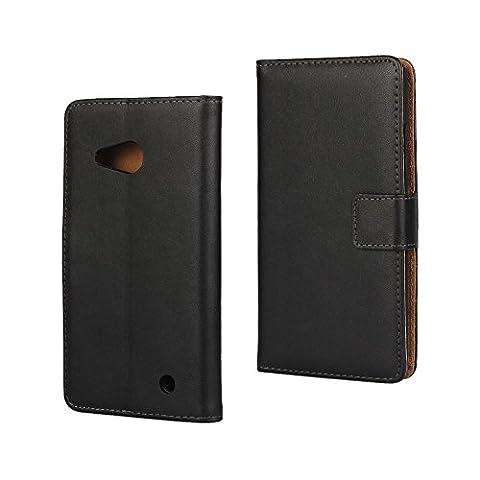 Etui Cuir Lumia 550 - Etui en cuir véritable pour Microsoft Lumia