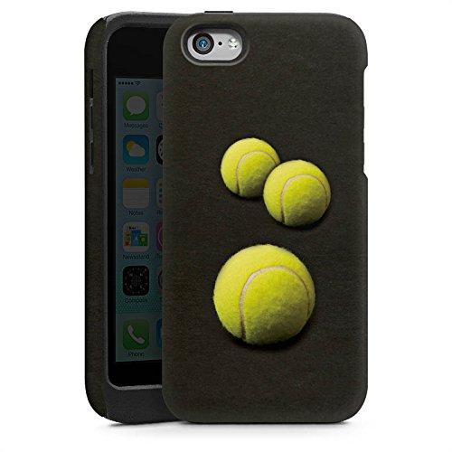 Apple iPhone 5 Housse étui coque protection Tennis Ballons Ballons Cas Tough brillant