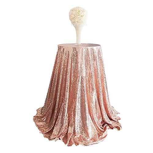 chdecke, rund, für drinnen und draußen, Party, Kuchen, Dessert, Tischdecke, Ausstellung, Hochzeit, Luxus, Rose Gold, XL ()