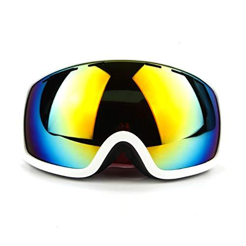 KnSam Winddicht Uv-Beständig Fahrradbrille Jungen Kratzfester Scheibe Panoramablickfeld Weiß Schutzbrille