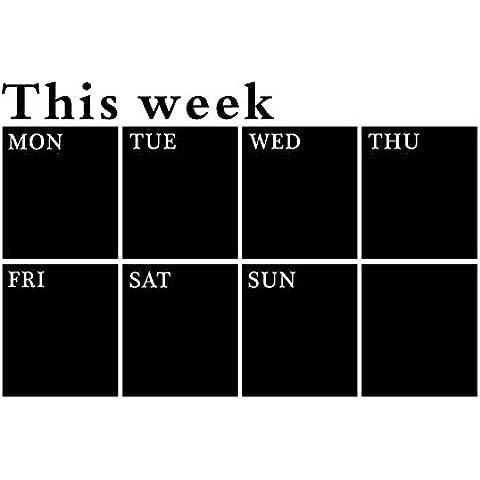 Pizarra adesiva, WER Pizarra papel removible impermeable para planificador semanal calendario y pizarra MEMO pegatina de pared -