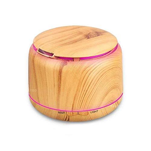 WULIHONG-humidifier300ml Wood Grain Cool Mist Humidifier difusor de aromaterapia Humidificador ultrasónico Aroma Difusor de aceites Esenciales con LED de 7 Colores