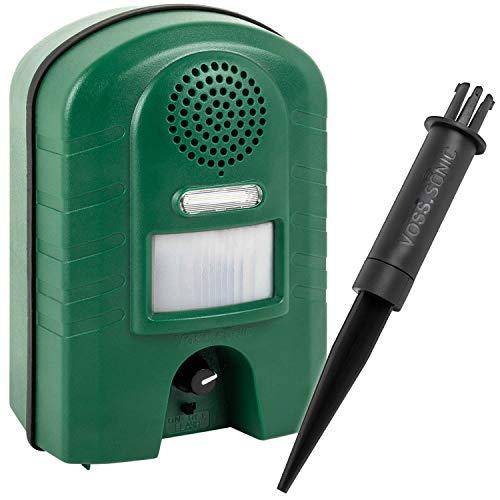 Ultraschall Vertreiber mit Bewegungsmelder & BLITZ - Marderabwehr, Katzenabwehr und Waschbärenabwehr -Gerät