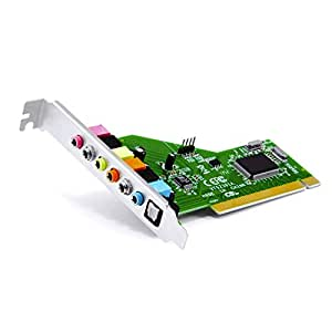 CSL - 7.1 PCI Soundkarte - 8 Kanal Surround Sound Karte + Toslink Optical Audio Out